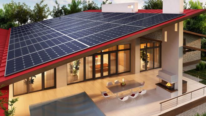 Solarmodule Beispielhaus